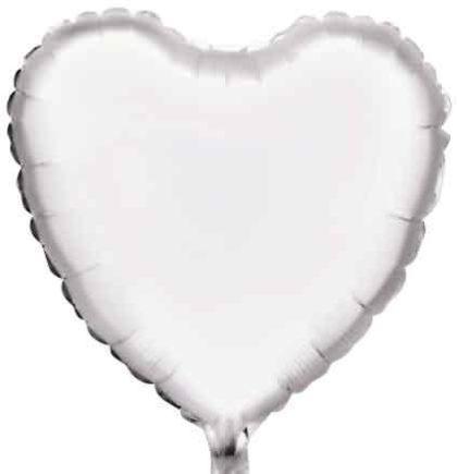 "18"" WHITE HEART FOIL BALLOON-0"