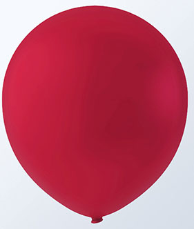 "12"" CHERRY RED LATEX BALLOONS-0"