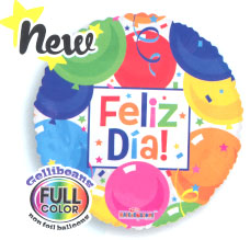 "18"" FELIZ DIA COLORFUL BALLOONS-0"
