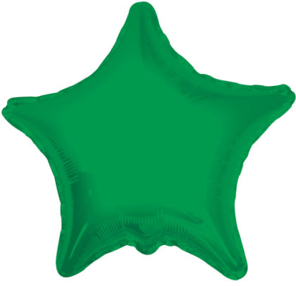 "9"" Emerald Green Star-0"