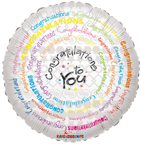 """18"""" CONGRATULATIONS TO YOU SPIRAL-0"""