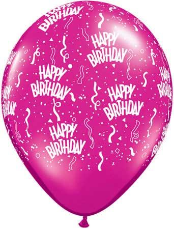 "11"" Birthday a Round Assorted Latex-0"