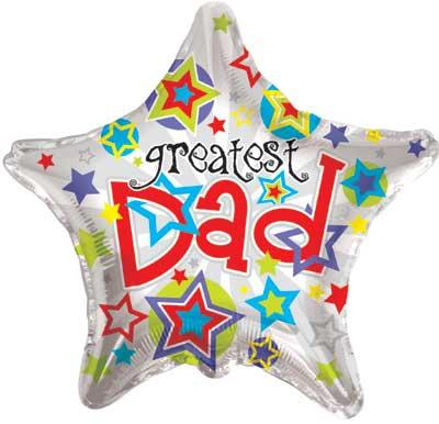 "22"" FATHERS DAY GREATEST DAD STAR-0"