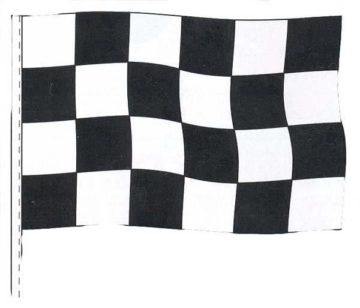 CHECKERED RACING ANTENNA PENNANTS-0