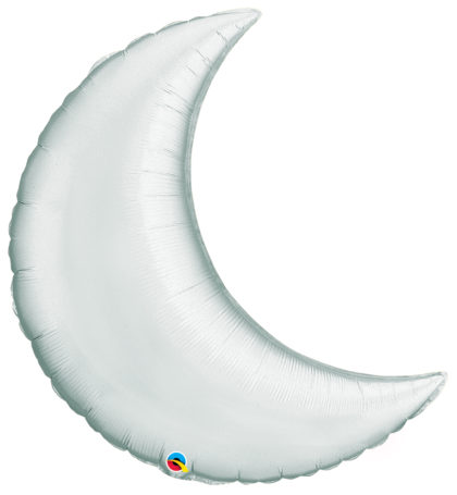 "35"" Silver Crescent Moon-0"