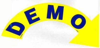DEMO ARROW SLOGAN SIGN-0
