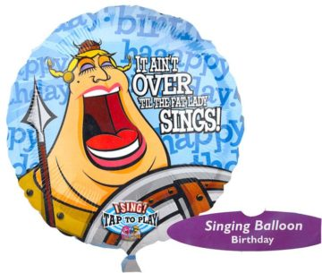 "28"" FAT LADY SINGS BIRTHDAY SINGING MYLAR-0"