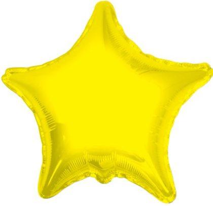 "18"" YELLOW STAR FOIL BALLOON-0"