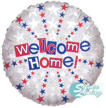 "18"" WELCOME HOME STAR BALLOON-0"