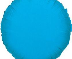 "18"" TURQUOISE BLUE ROUND FOIL-0"