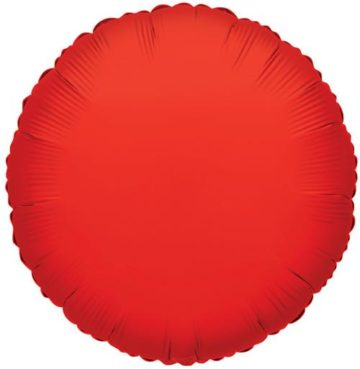 "18"" RED ROUND FOIL-0"