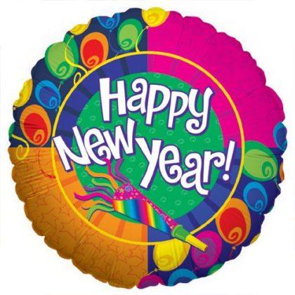 "18"" NEW YEAR NOISEMAKER FOIL -0"