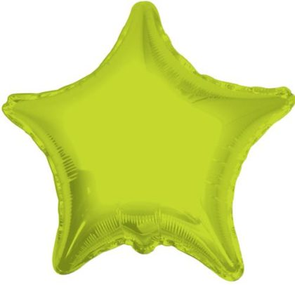 "18"" LIME GREEN STAR FOIL BALLOON-0"