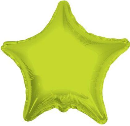 "18"" LIME GREEN STAR FOIL BALLOON-0"