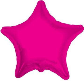"18"" HOT PINK STAR FOIL BALLOON-0"