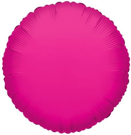 "18"" HOT PINK ROUND FOIL -0"