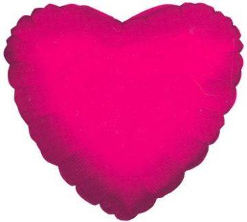 """18"""" HOT PINK HEART FOIL-0"""