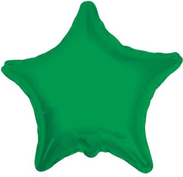 "18"" GREEN STAR FOIL BALLOON-0"