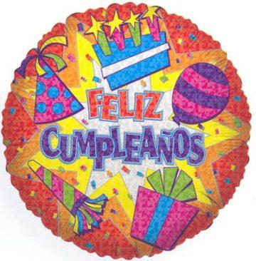 "18""FELIZ CUMPLEANOS BURST FOIL -0"