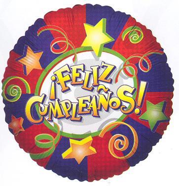 "18"" FELIZ CUMPLEANOS FOIL -0"