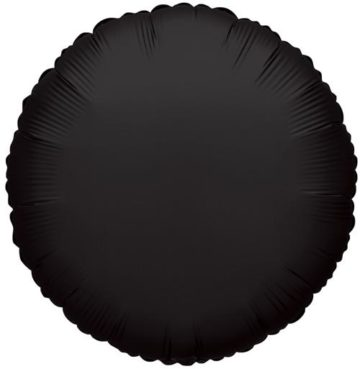"18"" BLACK ROUND FOIL BALLOON-0"