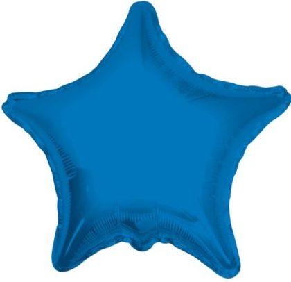 """18"""" BLUE STAR FOIL BALLOON-0"""