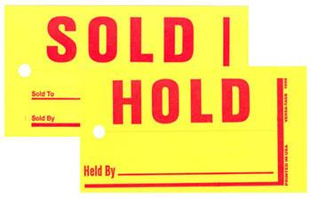 MINI SOLD/HOLD TAGS -0