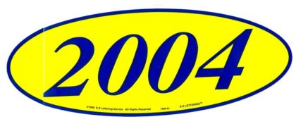 2004 OVAL YEAR MODEL SIGNS-0