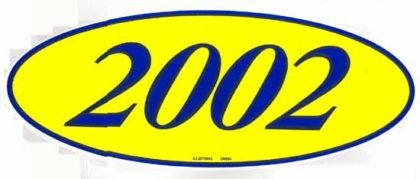 2002 OVAL YEAR MODEL SIGN-0