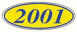2001 OVAL YEAR MODEL SIGN-0