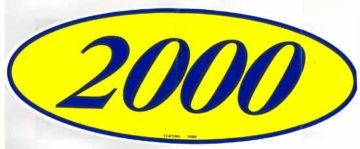 2000 OVAL YEAR MODEL SIGN-0