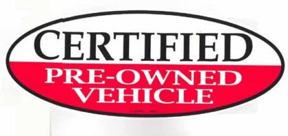 CERFTIFIED PREOWNED OVAL SIGN-0