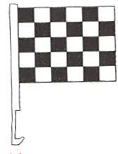WINDOW FLAG CHECKERED-0