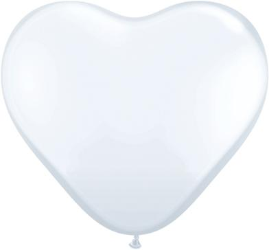 "6"" WHITE HEART LATEX-0"