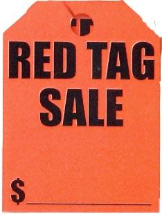 RED TAG SALE MIRROR TAG-0