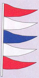TOTEM PENNANT RED, WHITE, & BLUE-0