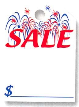 FIREWORKS SALE MIRROR HANG TAG-0