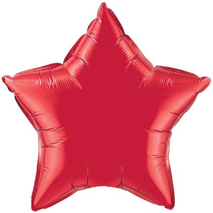 "4"" Ruby Red Star-0"