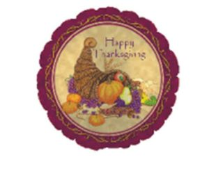 "18"" THANKSGIVING CORNUCOPIA FOIL-0"