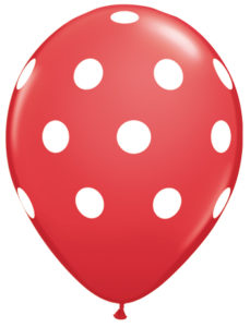 "11"" Big Polka Dots Red-0"