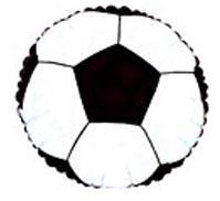 """18"""" SOCCER BALL FOIL -0"""
