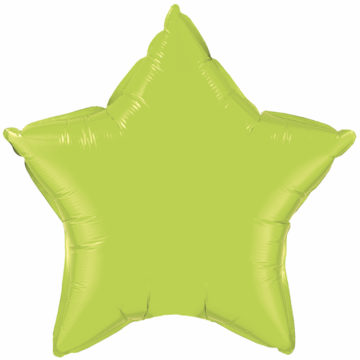 "4"" Lime Green Star-0"