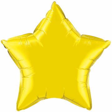 "4"" Citrine Yellow Star-0"