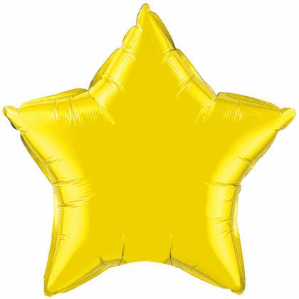 """4"""" Citrine Yellow Star-0"""