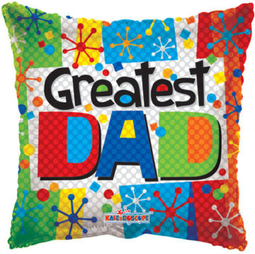 "18"" Greatest Dad Multicolor-0"