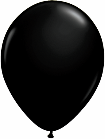 "11"" Onyx Black Qualatex Latex -0"