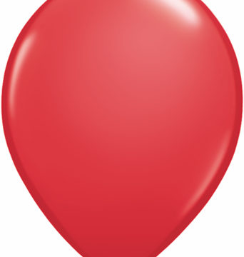 "11"" Red Qualatex Round Latex-0"