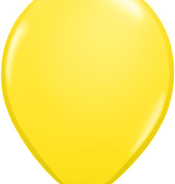 "11"" Yellow Qualatex Latex Balloons-0"