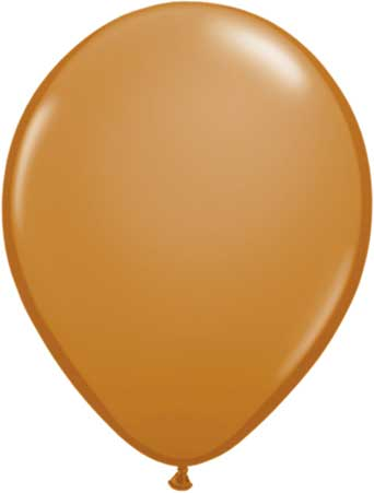 "11"" Mocha Brown Qualatex Latex Balloons-0"