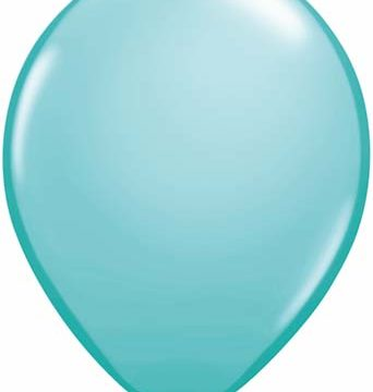 "11"" Caribbean Blue Qualatex Latex -0"